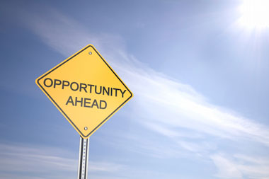 Street Sign that Says Opportunity Ahead